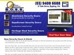 View More Information on Boss Security Doors & Blinds