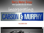 View More Information on Berry Motor Group Pty Ltd