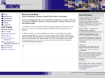 View More Information on Brown Consulting ( QLD ) Pty Ltd