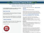 View More Information on Exclusively Property Rentals