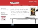 View More Information on Cook's Table