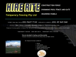 View More Information on Hire Rite Temporary Fence, Bolwarra