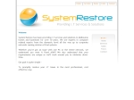 View More Information on System Restore