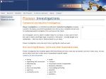 View More Information on Pioneer Investigations
