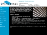 View More Information on Onsite Blinds