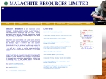 View More Information on Malachite Resources Nl