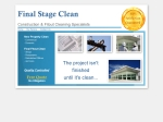 View More Information on Final Stage Clean