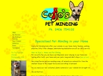 View More Information on Cujo's Pet Minding