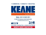 View More Information on Keane Electrical Pty Ltd