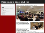 View More Information on McLaren Vale Bocce Club Inc