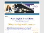 View More Information on Plain English Consultants