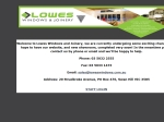 View More Information on Lowes Windows & Joinery