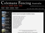 View More Information on Coleman's Fencing (Aust) Pty Ltd
