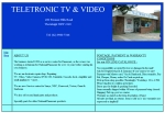View More Information on Teletronic Tv & Video