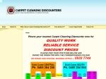 View More Information on Carpet Cleaning Discounters