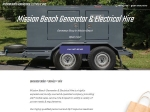 View More Information on Mission Beach Generator Hire