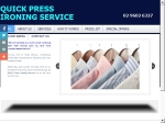 View More Information on Quick Press Ironing Service