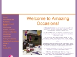 View More Information on Amazing Occasions