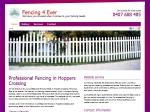 View More Information on Fencing 4 Ever