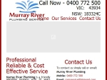 View More Information on Murray River Plumbing Service