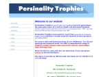 View More Information on Personality Trophies