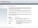 View More Information on Fitch Australia Pty Ltd
