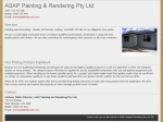 View More Information on A.S.A.P Painting & Rendering Pty Ltd