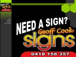 View More Information on Geoff Signs