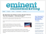 View More Information on Eminent Online Marketing