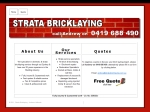 View More Information on Strata Bricklaying