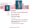 View More Information on It's Your Day, Your Way! Wedding Shop