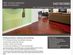View More Information on P&T Nicholls Floor Sanding And Polishing