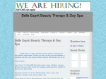 View More Information on Belle Esprit Beauty Therapy