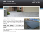 View More Information on JPD Concreting