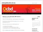 View More Information on Osteopathy CBD