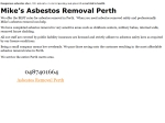View More Information on Mike's Asbestos Removal