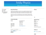 View More Information on Feldy Physio