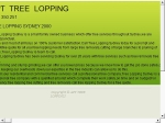View More Information on Apt Tree Lopping