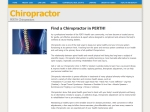 View More Information on Chiropractor In Perth Services