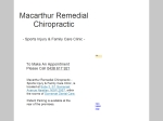 View More Information on Macarthur Remedial Chiropractic