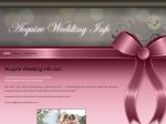 View More Information on Acquire Wedding  Info