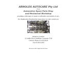 View More Information on Arnolds Autocare Pty Ltd