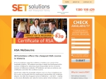 View More Information on Setsolutions RSA Courses, Caulfield