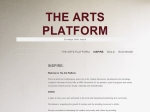 View More Information on The Arts Platform