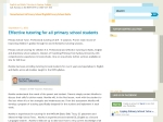View More Information on Primary School Tutoring For English, Maths And All K-6 Subjects