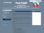 View More Information on Paul Cahill Computer Services