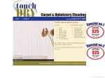 View More Information on Touch Dry Carpet and Upholstery Cleaning