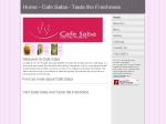 View More Information on Cafe Saba