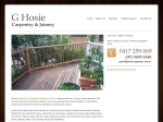View More Information on G Hosie Carpentry & Joinery