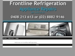 View More Information on Frontline Refrigeration & Washing Machine Specialist